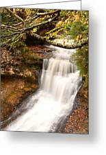 Miner Falls During Autumn Greeting Card