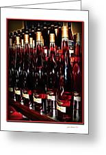 Miner Pink Sparkling Wine Greeting Card