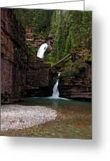 Mineral Creek Falls Greeting Card