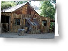 Miners Cabin. Greeting Card