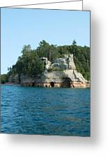 Miner's Castle On The Water Greeting Card