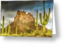 Miner's Needle In The Superstitions Greeting Card