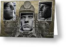 Miners Triptych Greeting Card