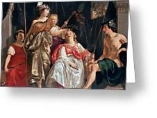Minerva Crowns The Maid Of Leiden Greeting Card