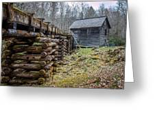 Mingus Millrace And Mill In Late Winter Greeting Card