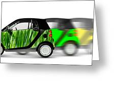 Mini Cars Greeting Card