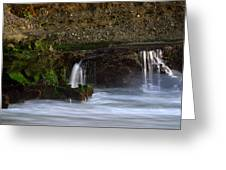Mini Falls Laguna Beach Greeting Card