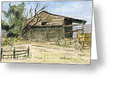 Mini No 1 Old Hay Shed Greeting Card by David King