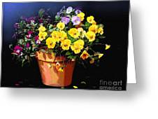Mini Pansy Pot Greeting Card