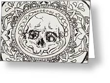 Skull Mandala Greeting Card