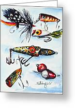 Mini Study- Fishing Lures Greeting Card