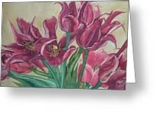 Mini-tulip Bouquet - 8 Greeting Card
