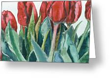 Mini-valentine Tulips - 2 Greeting Card