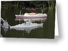 Miniature Boats Greeting Card