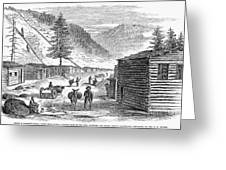 Mining Camp, 1860 Greeting Card by Granger
