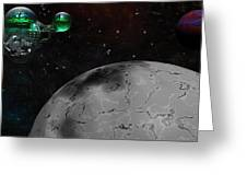 Mining Operation Deep Space Greeting Card