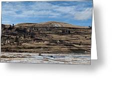 Mining Town Panorama Greeting Card