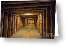 Mining Tunnel Greeting Card
