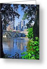 Minneapolis Through The Trees Greeting Card