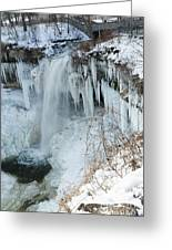 Minnehaha In Winter Greeting Card
