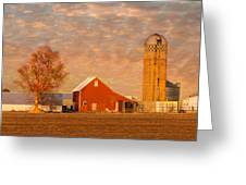 Minnesota Farm At Sunset Greeting Card
