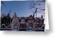 Christmas Lights Series #6 - Minnesota Governor's Mansion Greeting Card