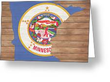 Minnesota Rustic Map On Wood Greeting Card