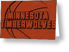 Minnesota Timberwolves Leather Art Greeting Card