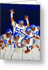 Minnesota Vikings Front Four  Greeting Card by Cliff Spohn