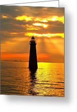 Minot's Ledge Lighthouse Greeting Card by Joseph Gillette