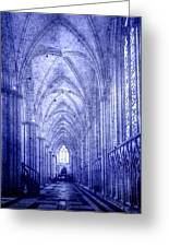 Minster In Blue Greeting Card