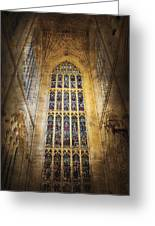 Minster Window Greeting Card