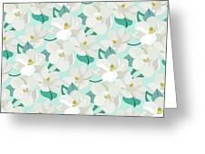 Mint Magnolias Greeting Card by Elizabeth Tuck