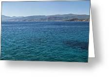 Mirabello Bay Panorama Greeting Card