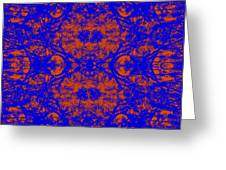 Mirage In Blue - Abstract Greeting Card