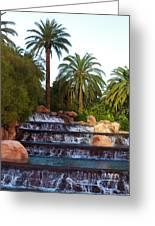 Mirage Waterfall Greeting Card