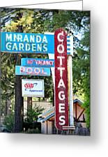 Miranda Gardens Greeting Card