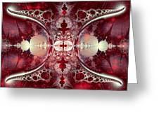 Mirror Gateway / Crop / Red Stars Greeting Card