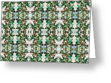 Mirror Image Of Acorns On An Oak Tree Greeting Card