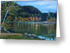 Mirror Lake In Woodstock New Hampshire Greeting Card
