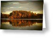 Mirror Lake Image Of Fall Greeting Card