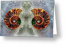 Mirrored Ammomite - 8305 Greeting Card