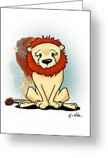 Lion Peaceful Reflection  Greeting Card