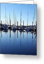 Mirrored Masts  Greeting Card