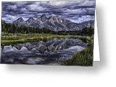 Mirrored Mountains Greeting Card