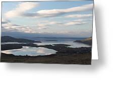 Mirrored Sky In Connemara Ireland Greeting Card