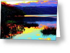 Mirrored Sky Greeting Card