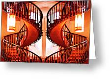 Mirrored Stairs Greeting Card