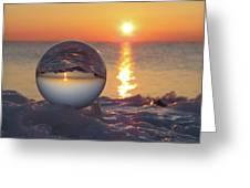 Mirrored Sunrise Greeting Card
