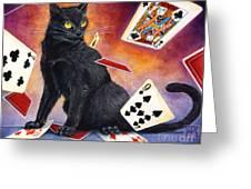 Mischief Kitten Greeting Card